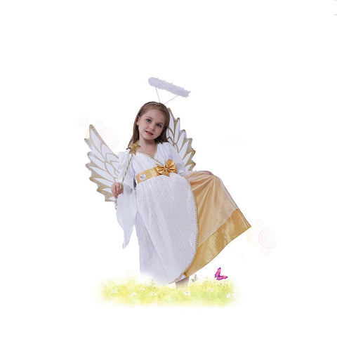Free Shipping Little Girls Cute Snow Angel Costume Sophies Clothing