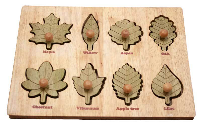 Montessori Leaf Puzzle - Mini Village