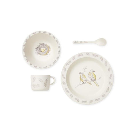 Bamboo Dinnerware Set - Bird Theme - Mini Village