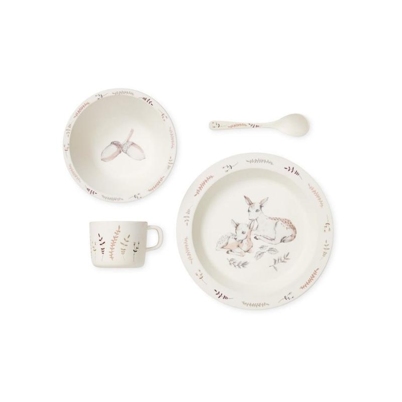 Bamboo Dinnerware Set - Forest Theme - Mini Village
