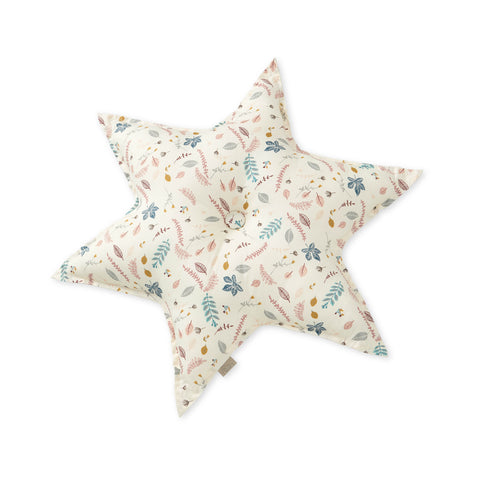 Star Cushion -Pressed Leaves Rose - Mini Village
