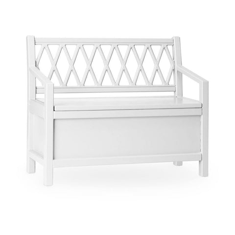 Harlequin Kids Storage Bench - White - Mini Village