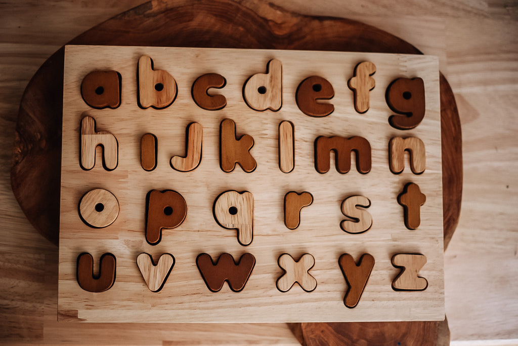 Qtoys Natural Lower Case Puzzle