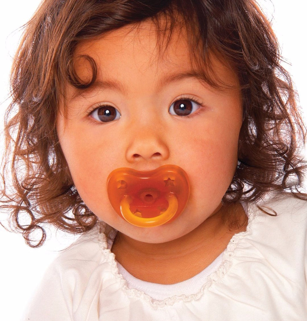 Star & Moon Natural Rubber Pacifier - Mini Village