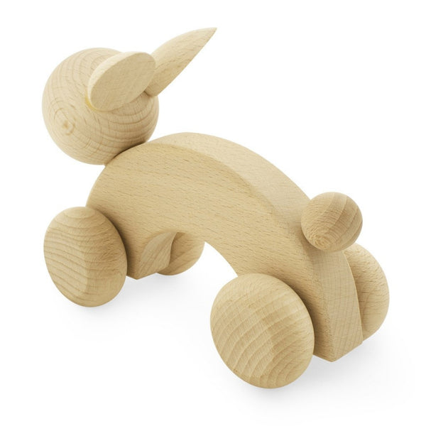 Wooden Push Along Rabbit - Ace - Mini Village