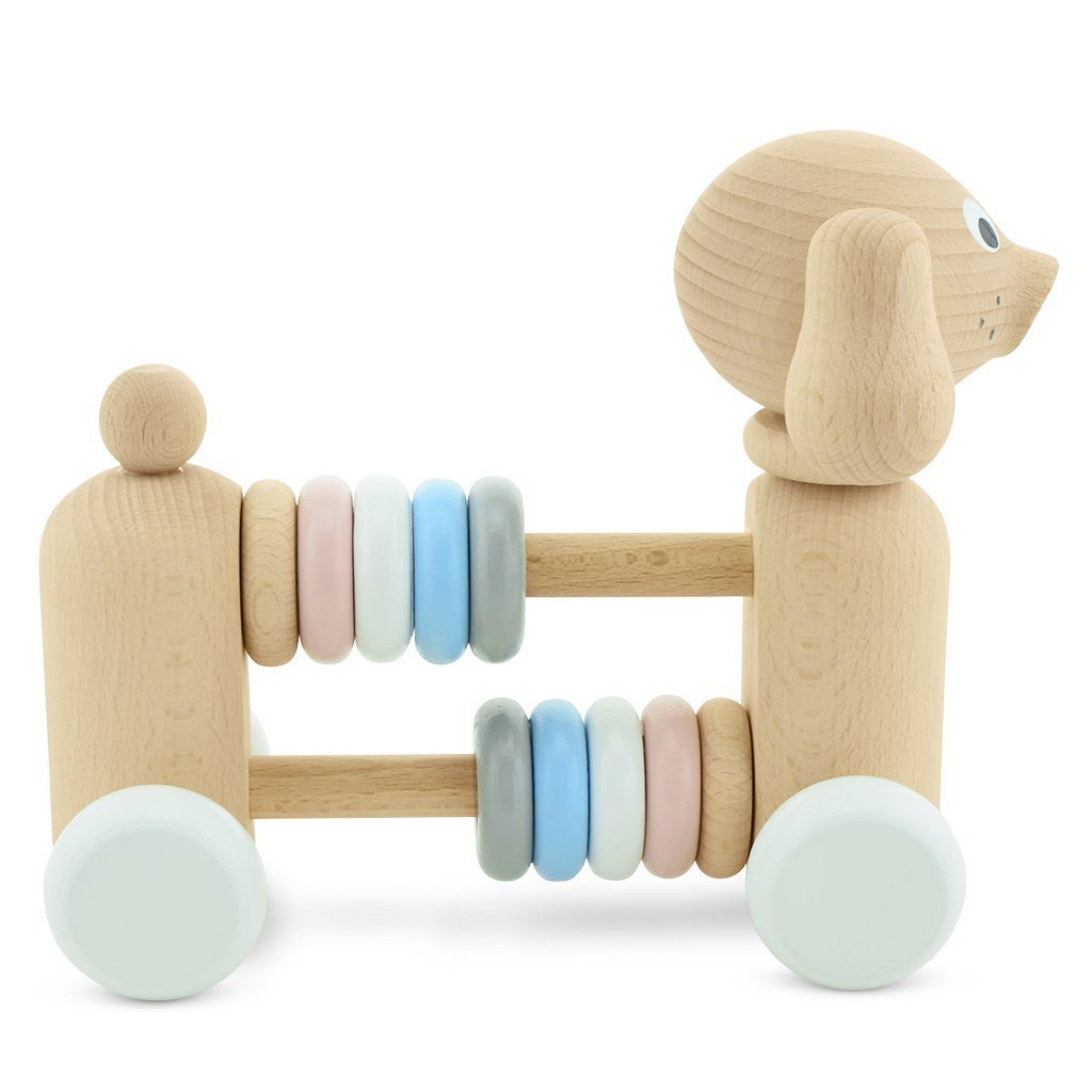 Wooden Dog With Beads - Layla - Mini Village