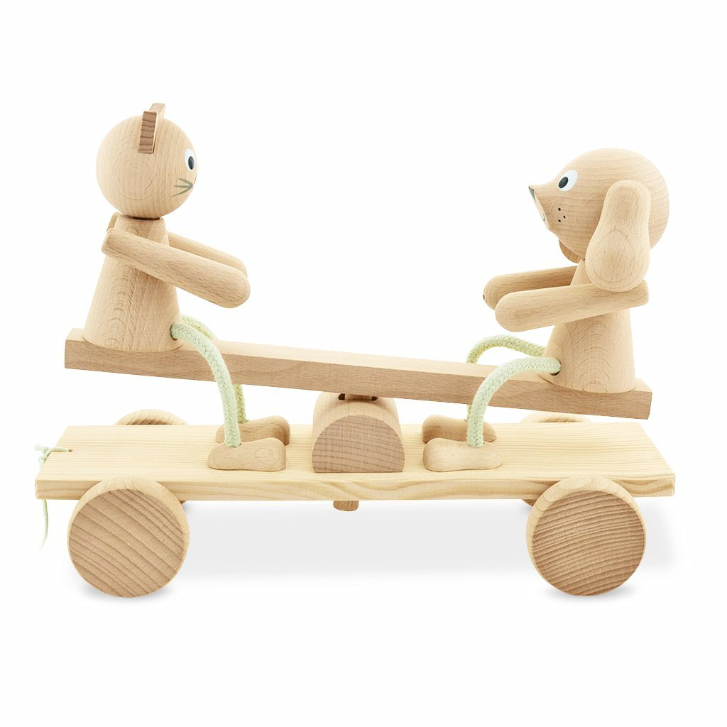 Wooden See Saw Pull Along - Carl & Coco - Mini Village