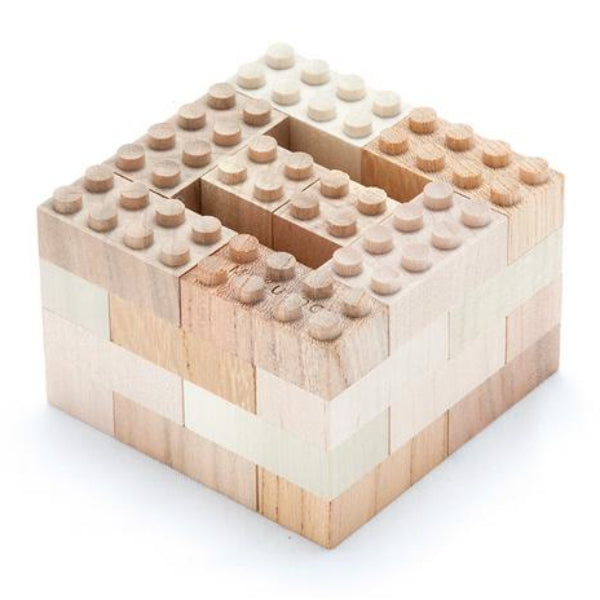Natural Wooden Block Set - 34 pcs - Mini Village