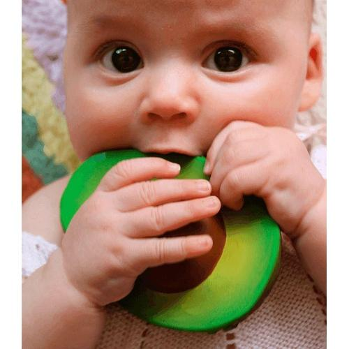 Oli & Carol - ARNOLD THE AVOCADO - natural rubber teether - Mini Village