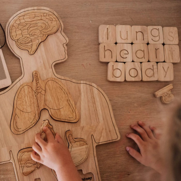 Wooden Anatomy Puzzle - Mini Village