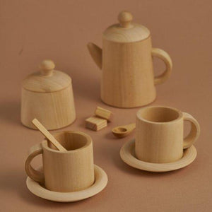 Wooden Tea Set - Natural - Mini Village