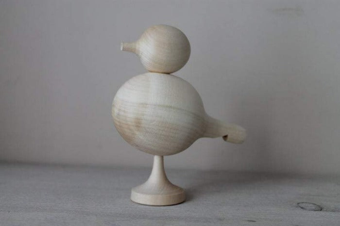 Wooden Bird Whistle Toy - Mini Village