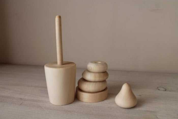 Wooden Ice Cream Stacking Toy - Mini Village