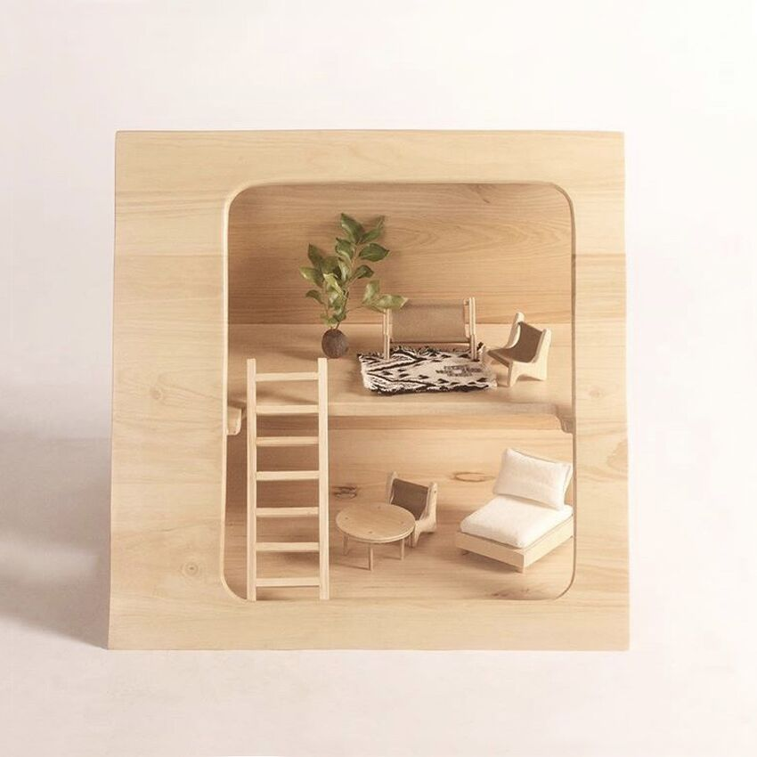 A-Frame Dolls House Furniture Set - Mini Village