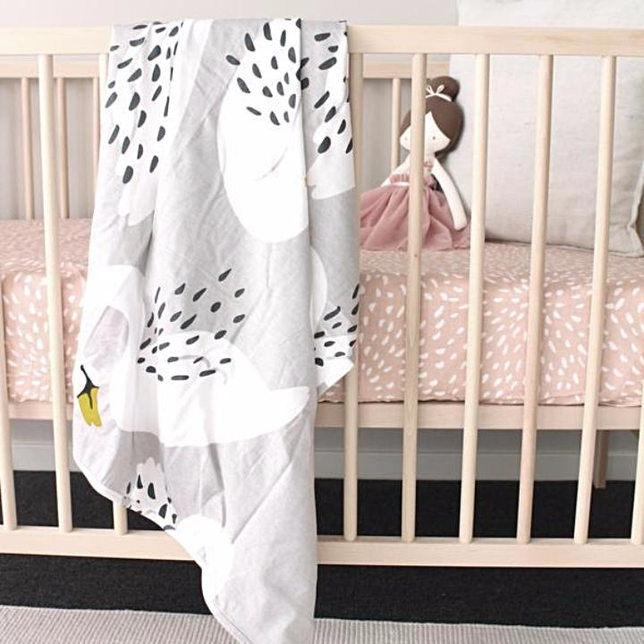 Organic Cotton Baby Wrap - Swans - Mini Village