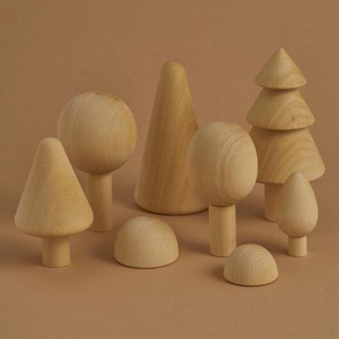 Wooden Forest Set  - Natural - Mini Village