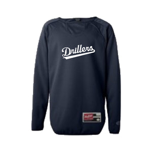 Youth - Drillers Long Sleeve Flatback Mesh Fleece Pullover