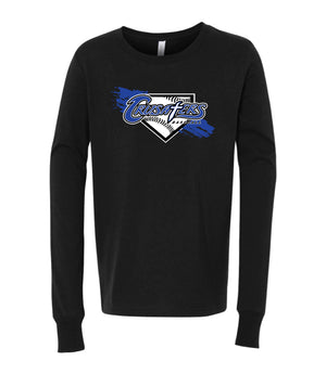Crusators Youth Jersey Long Sleeve Tee - Homeplate Dirt