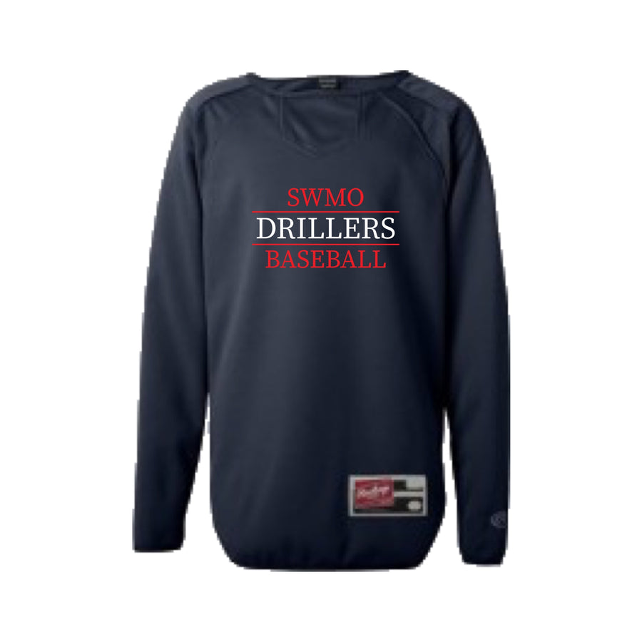 Youth - SWMO Drillers Long Sleeve Flatback Mesh Fleece Pullover