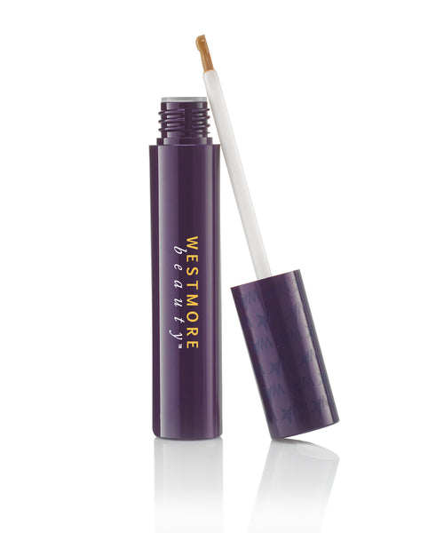 On-the-Go Lasting Effects Brow Gel tube opened showing the brush in cap