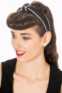 Banned apparel black and white knot headband