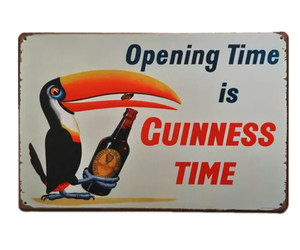 A4 toucan beer tin sign