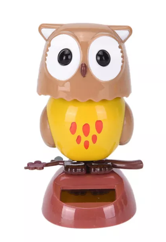 solar powered dashboard owl