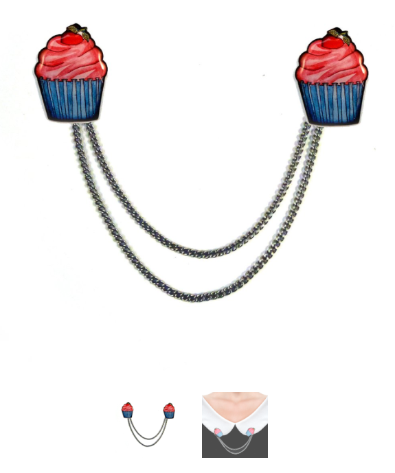 jubly umph CUPCAKE CARDIGAN CLIPS