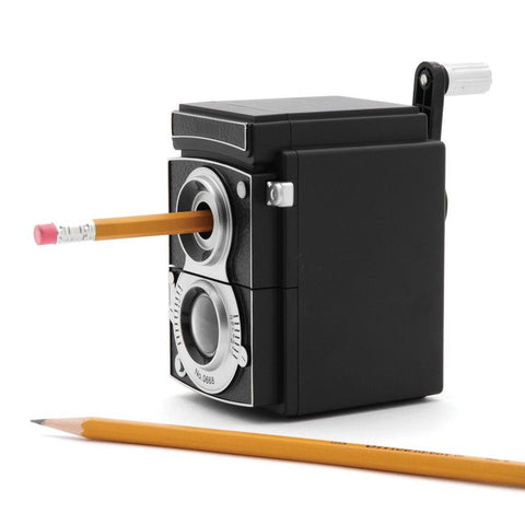 mr and mrs jones vintage camera shaped mechanical pencil sharpener