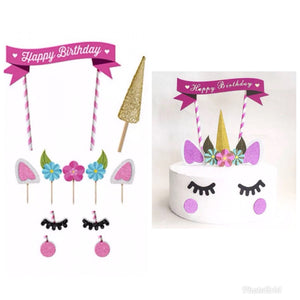 Unicorn cake decorating set