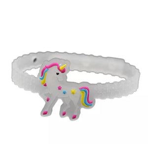 Rubber unicorn bracelet