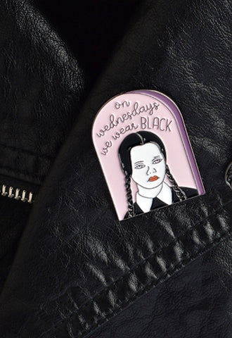 Wednesday Addams brooch pin