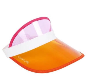 Sunnylife orange pink sun hat visor