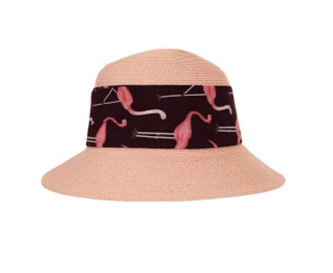 Pink flamingo Collectif sunhat - Gloria