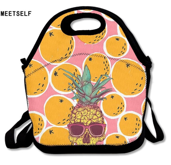 Pineapple man lunch bag