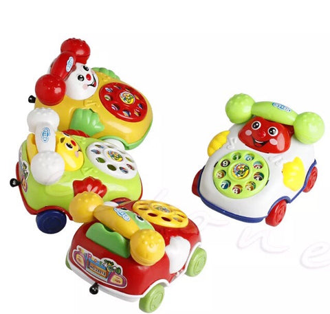 Vintage style telephone zoomy toy