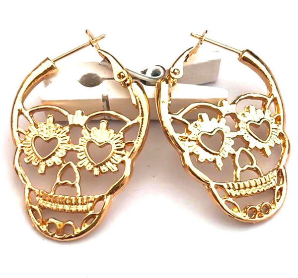 Skull earrings choose colour