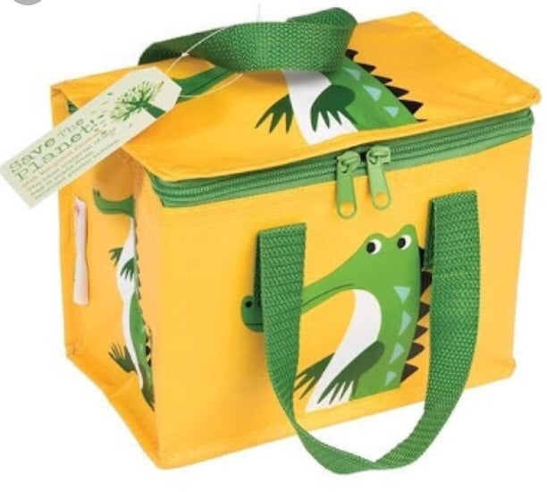 Rex crocodile recycled insulated lunch bag