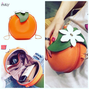 Orange bloom light weight chain handbag