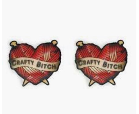 Jubly umph crafty heart earrings