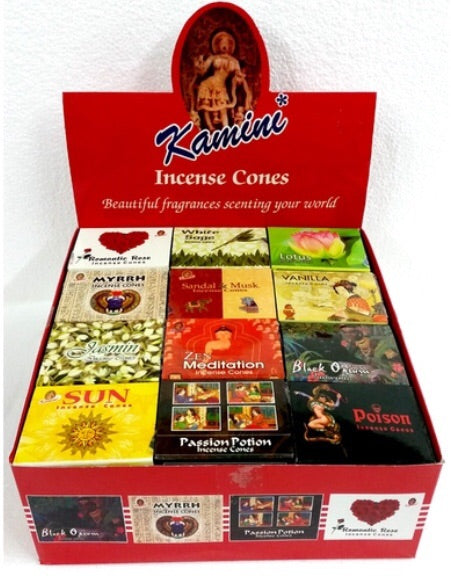 Box of kamini incense cones