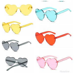 Ladies acrylic heart shaped sunglasses