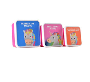 Jolly awesome unicorn set of 3 lunch boxes