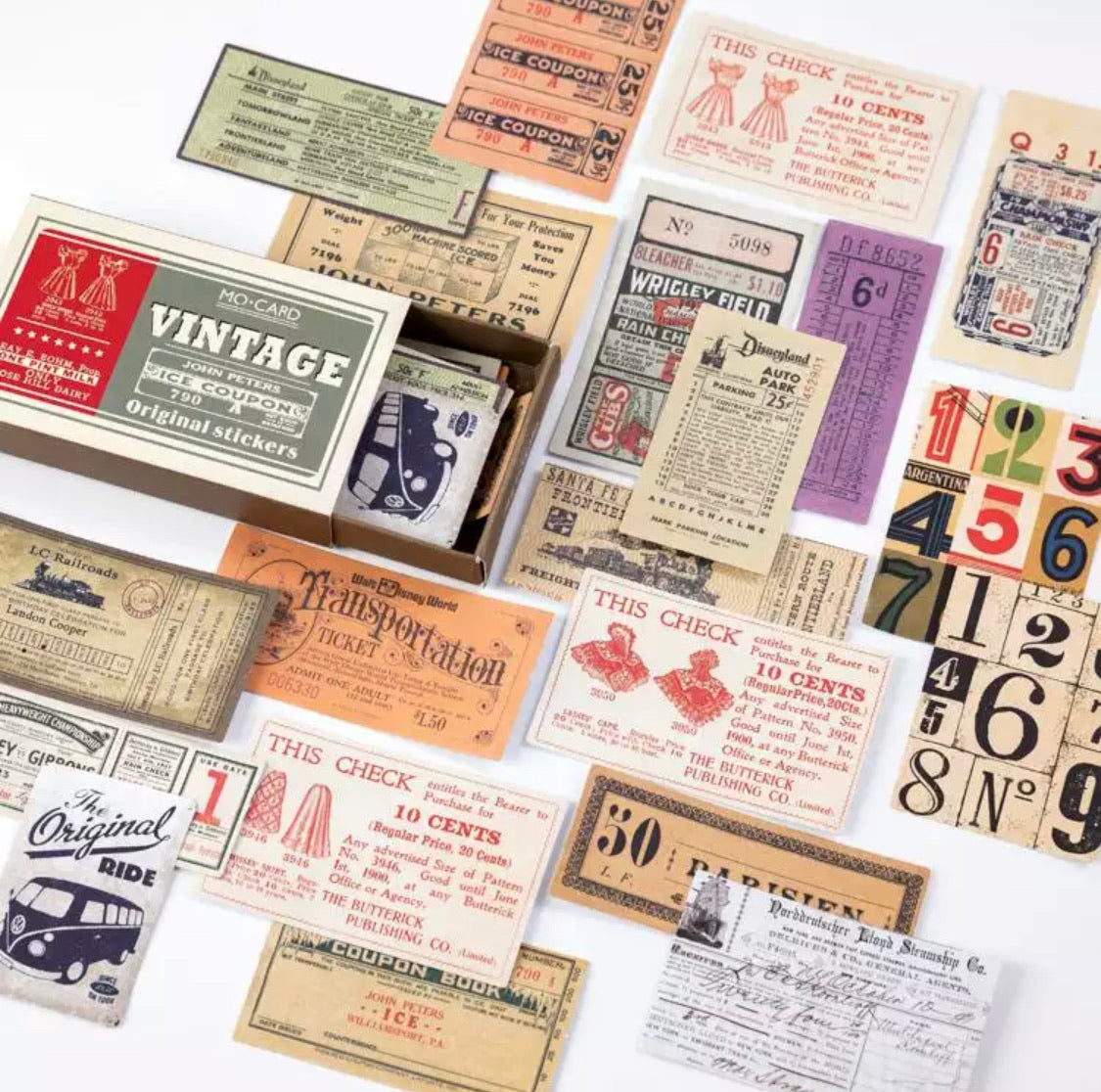 Vintage inspired Scrap booking label stickers