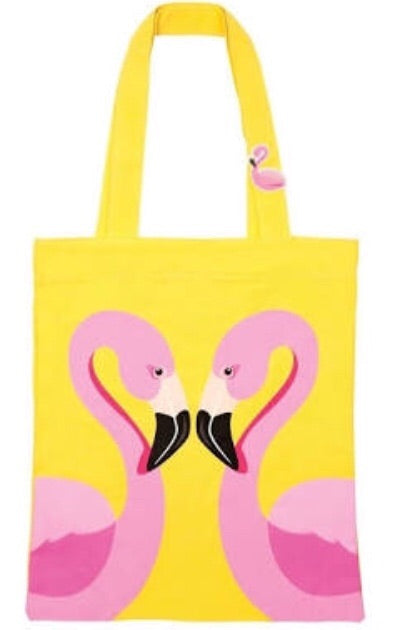 Sunnylife yellow flamingo tote bag