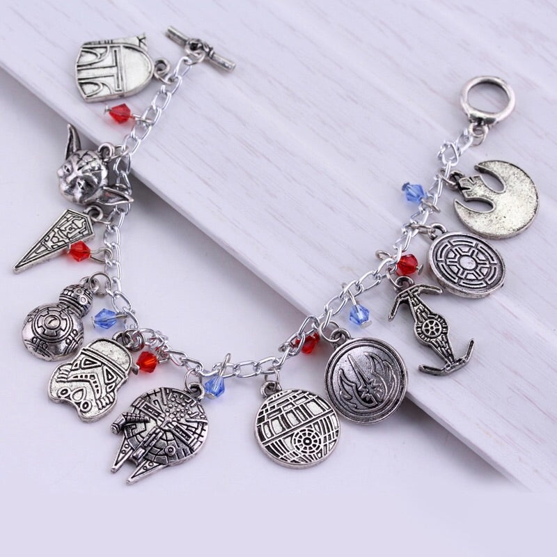 Star Wars themed charm bracelet
