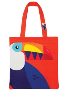 Sunnylife toucan tote badge with pin brooch