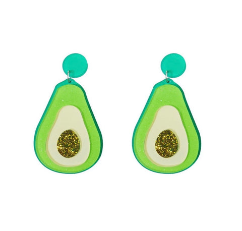 Avocado acrylic earrings