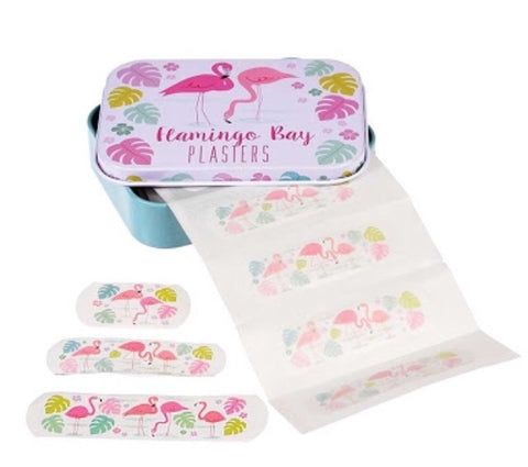Rex flamingo bay bandaids plasters in tin