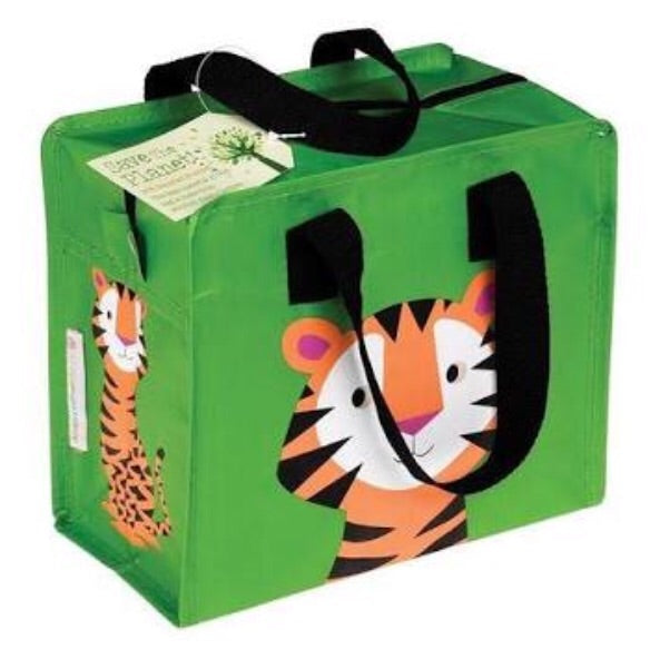REX Charlotte recycled kids tote tiger bag